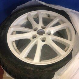 Шины, диски и комплектующие - Литые белые диски R17 114.3 60.1 Toyota Camry, 0