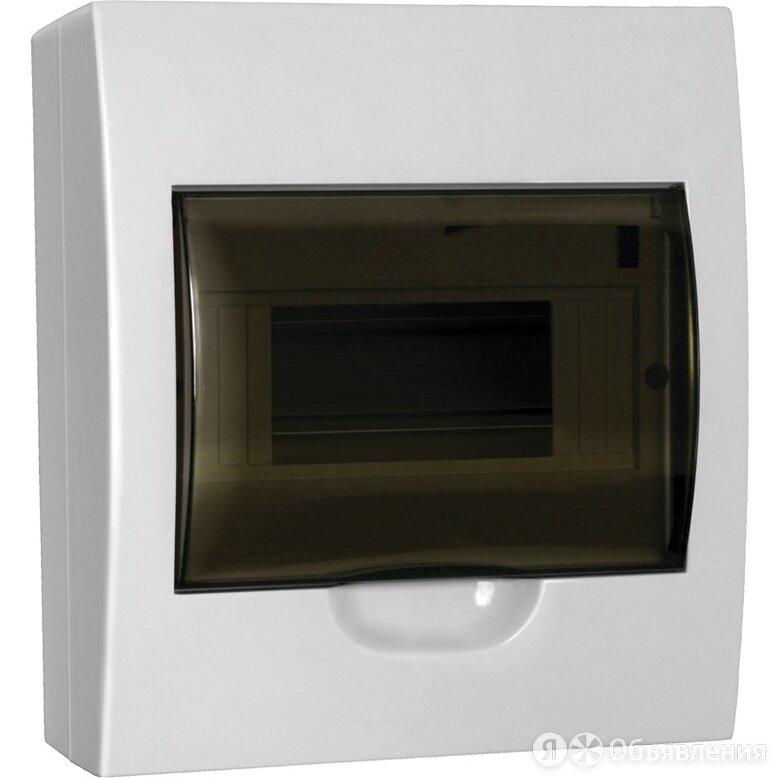 Бокс пластиковый IEK ЩРН-П-8 модулей, навесной, белый, IP41 по цене 522₽ - Электрические щиты и комплектующие, фото 0