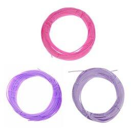 Расходные материалы для 3D печати - Пластик PCL для 3D ручки, длина: 5 м, цвета фиолетового МИКС, 0