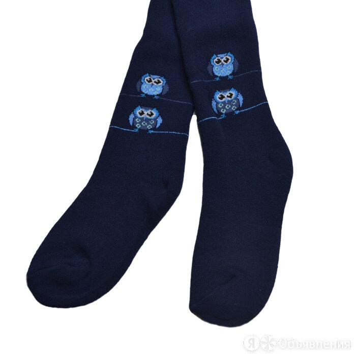 Колготки детские махровые, цвет темно-синий, рост 122-128 по цене 702₽ - Колготки и носки, фото 0