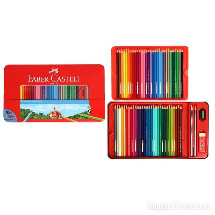 Карандаши 60 цвета Faber-Castell 'Замок', шестигранный корпус, 2 чернографитн... по цене 3514₽ - Строительные смеси и сыпучие материалы, фото 0