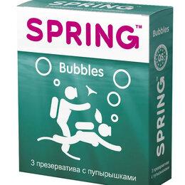 Презервативы - Презервативы SPRING BUBBLES с пупырышками - 3 шт., 0