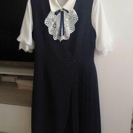 Платья и сарафаны - Школьная форма для девочек синяя, 0