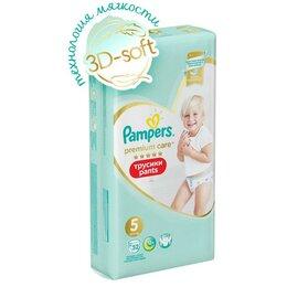 Подгузники - Pampers Подгузники-трусики PAMPERS Premium Care Pants 5 Junior (12-17 кг), 52 шт, 0