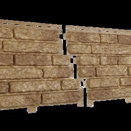 Фасадные панели - Фасадные панели Стоун хаус Кварцит 250х2000 мм Темно-бежевый, 0