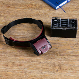 Лупы - Лупа налобная 1,7-4,5х бинокулярная, с подсветкой, 0
