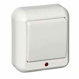 Электроустановочные изделия - Выключатель 1кл о/у ПРИМА с индикацией белый Schneider Electric, 0