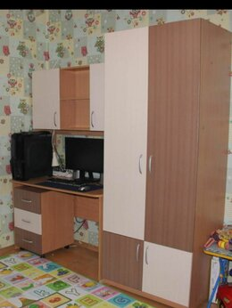 Шкафы, стенки, гарнитуры - Комплект мебели для школьника стол, шкаф и тумба, 0