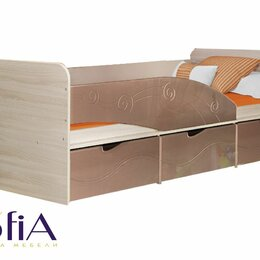 Кроватки - Детская кровать 80х190 с ящиками бриз, 0