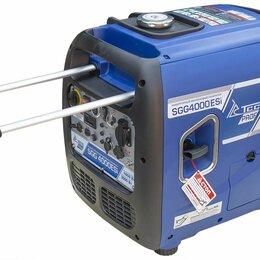 Электрогенераторы и станции - Бензогенератор инверторный SGG 4000ESi с блоком АВР, 0