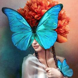 Прочая техника - Девушка с бабочками Артикул : GS 1259, 0