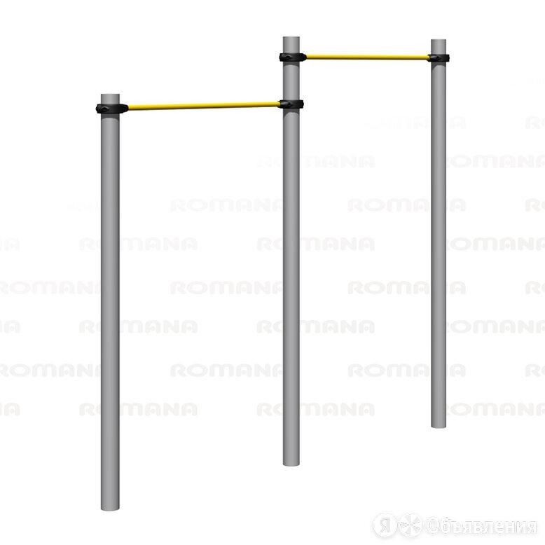 Воркаут ROMANA Турник сдвоенный (серый) по цене 39170₽ - Защита и экипировка, фото 0