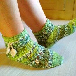 """Колготки и носки - Носки """"Листья"""" (заказ), 0"""