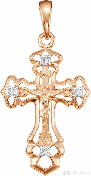 Крестик Vesna jewelry 8024-151-00-00 по цене 11830₽ - Кулоны и подвески, фото 0