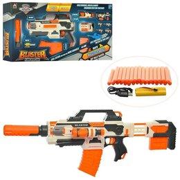 Игрушечное оружие и бластеры - Автоматический бластер - Комбинатор, стреляет мягкими пулями, работает от акк..., 0