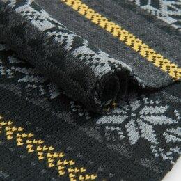 Шарфы - Новый Вязанный Шарф с Резинками по краям, 0