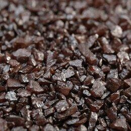 """Субстраты, грунты, мульча - Грунт декоративный  """"Шоколадный металлик"""" песок кварцевый, 250 г фр.1-3 мм, 0"""
