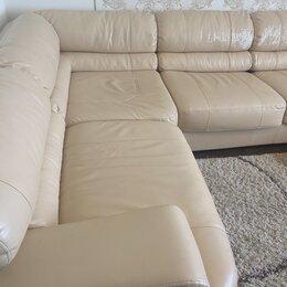 Диваны и кушетки - Кожаный угловой диван , 0