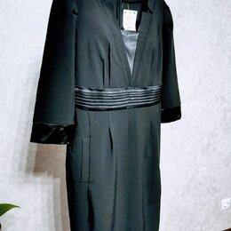 Платья - Красивое черное платье для офиса, 0