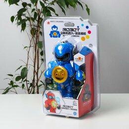 Мыльные пузыри - Генератор мыльных пузырей «Робот» синий 15х9,5х23 см, 0