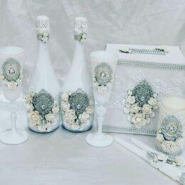 Свадебные украшения - Свадебный набор в белом цвете. , 0