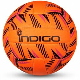 Мячи - Мяч волейбольный INDIGO SAND любительский шитый (PU) IN162 Оранжево-черный, 0