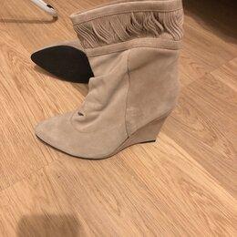 Ботинки - Замшевые ботинки - 36-37 размер, 0