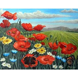 Картины, постеры, гобелены, панно - Цветы на лугу Артикул : GF 3611, 0