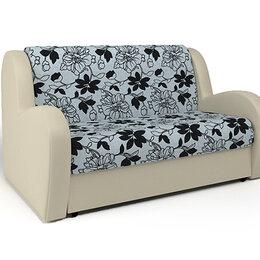 Диваны и кушетки - Диван кровать Шарм-Дизайн Барон Мальта цветы и экокожа бежевая, 0