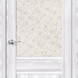 Межкомнатные двери - Межкомнатная дверь с экошпоном Прима-3 Riviera Ice   White Сross, 0