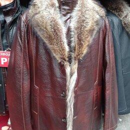 Куртки - Куртка кожаная мужская зимняя, 0