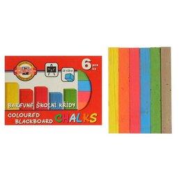 Прочие штукатурно-отделочные инструменты - Мелки цветные 6 штук Koh-i-Noor 1125, прямоугольные, 0