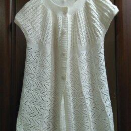 Блузки и кофточки - Кофточка спицами из хлопка, 0
