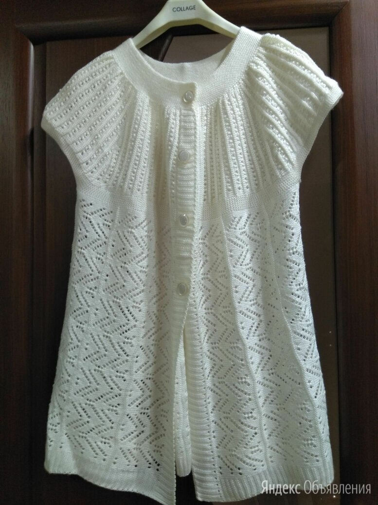 Кофточка спицами из хлопка по цене 390₽ - Блузки и кофточки, фото 0