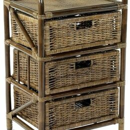 Плетеная мебель - Мебель ротанговая Комод с плетеными ящиками 19/10 емно-коричневый, 0