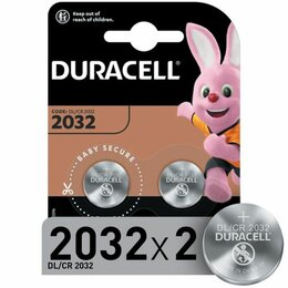 Батарейки - Батарейка Duracell CR2032 3V литиевая, 2BL, 0