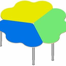 Столы - Стол «Ромашка» (3 части) на регулируемых ножках. (в цвете), 0