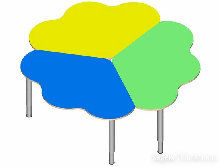 Стол «Ромашка» (3 части) на регулируемых ножках. (в цвете) по цене 8750₽ - Столы и столики, фото 0