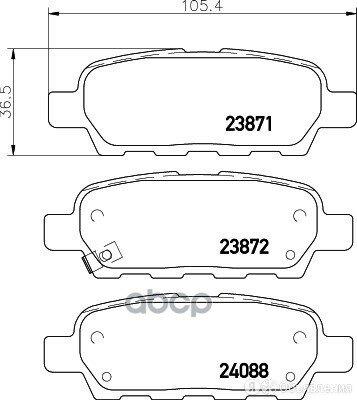 Колодки Зад.Infinity Fx35/37/45 03-> HELLA PAGID арт. 8DB 355 028-031 по цене 1650₽ - Тормозная система , фото 0
