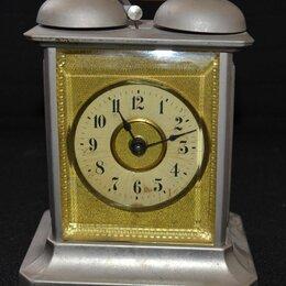 Часы настольные и каминные - Часы каретные механические с будильником. Junghans, 0
