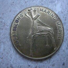 Жетоны, медали и значки - Жетон выставка работ Марино Марини Вена Австрия  Marino Marini in Wien, 0