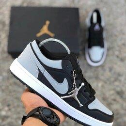 Кроссовки и кеды - Nike air jordan 1 low grey white Black Кроссовки осенние , 0