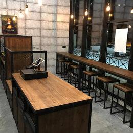 Мебель для учреждений - Мебель лофт для кафе, 0