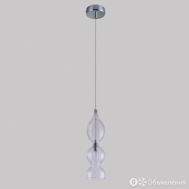 Подвесной светильник Crystal Lux Iris SP1 B Transparent по цене 6900₽ - Люстры и потолочные светильники, фото 0