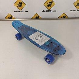 Скейтборды и лонгборды - Детский Пенниборд с подсветкой и блютузом цвет синий, 0