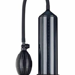 Прочие товары для животных - Eroticon Чёрная вакуумная помпа Eroticon PUMP X1 с грушей, 0