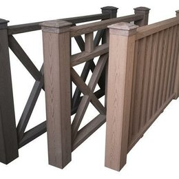 Заборы, ворота и элементы - Ограждения из дпк для беседок, террас и балконов., 0