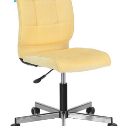 Компьютерные кресла - Бюрократ Кресло Бюрократ CH-330M желтый Velvet 74 крестовина металл хром, 0