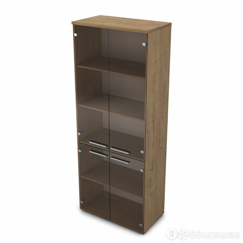 Шкаф высокий со стеклом (800*450*2045) 9Ш.005.10 Gloss по цене 21921₽ - Шкафы для документов, фото 0