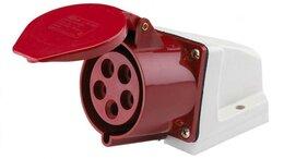 Электроустановочные изделия - Розетка ОП 32А 380В 3P+E+N тип. роз. 125 IP44…, 0